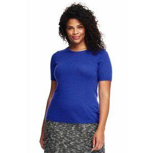 JONES NEW YORK 100% Cashmere Short Sleeve Sweater